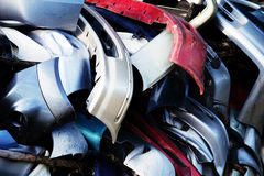 Used front bumper. Heap of used front bumper Royalty Free Stock Photos