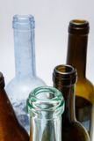 Used glass bottles detail Stock Photos