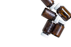 Used glass bottles for recycle Stock Photography