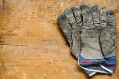 Used gloves royalty free stock images