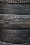 Used grunge car tires' texture Royalty Free Stock Image
