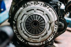 Used grunge dirty clutch kit stock photography