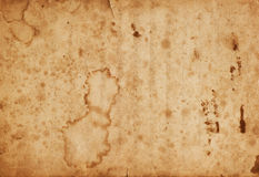 Used grungy stained paper texture. Vintage background Royalty Free Stock Photos