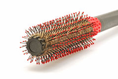 Used hair brush Stock Images