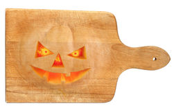 Used Halloween chopping board Royalty Free Stock Photo