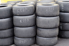 Used High Performance Sport Tyre Stock Image