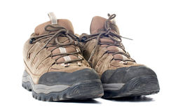 Used hiking boots Royalty Free Stock Photography