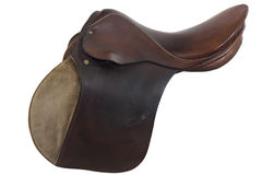 Used horse saddle, English style Stock Images