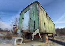Used hut on wheels. On a construction yard Royalty Free Stock Photos