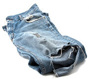 Used jeans Stock Photography