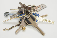Used keys Royalty Free Stock Photo