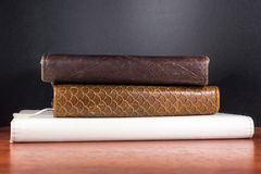 Used Leather Book Spines Stock Photography