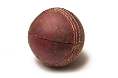 Used leather cricket ball Royalty Free Stock Photos