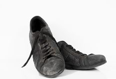 Used leather vintage old shoes Stock Photography