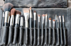 Used make up brushes Royalty Free Stock Images