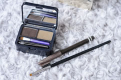 Used makeup cosmetic set. The used makeup cosmetic set Royalty Free Stock Photos