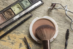 Used Makeup Kit Royalty Free Stock Photo