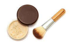 Used makeup powder Royalty Free Stock Image