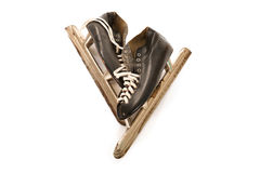 Used male ice skates Royalty Free Stock Images