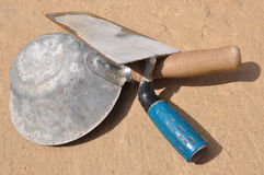Used masonry tools Stock Image