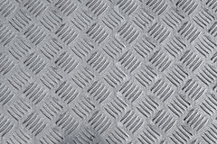Used metal diamond plate Royalty Free Stock Image