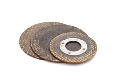 Used metal saw disks Royalty Free Stock Image