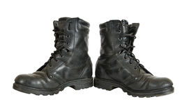 Used military boots Royalty Free Stock Photos