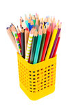 Used mixed pencils Royalty Free Stock Image