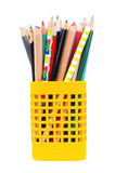 Used mixed pencils Royalty Free Stock Images
