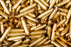 Used 5,56 mm bullets. Macro photo Royalty Free Stock Photography