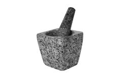 Used mortar on white background Royalty Free Stock Images
