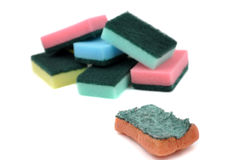 Used and New Scouring Pads Royalty Free Stock Photo