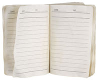 Used notebook Royalty Free Stock Image