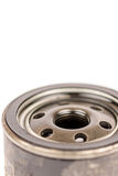 Used old car oil filter Stock Images