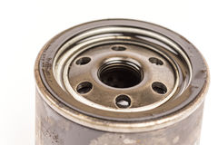 Used old car oil filter Royalty Free Stock Photo
