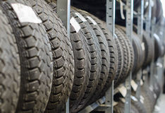 Used old car tires. Royalty Free Stock Photos