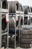 Used old car tires. Stock Image