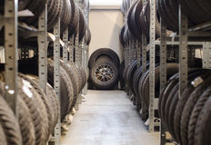 Used old car tires. Stock Images