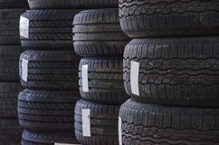 Used old car tires Stock Photography