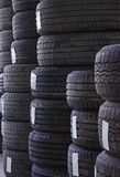 Used old car tires Stock Images