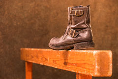 Used old fashioned Boot Royalty Free Stock Images