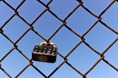 Used Padlock as token for Love Royalty Free Stock Images