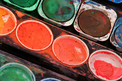 Used paint box Royalty Free Stock Images