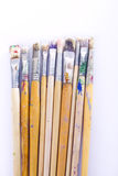 Used paint brushes Royalty Free Stock Images