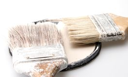 Used Paint Brushes Stock Image