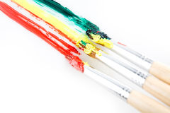 Used paint brushes Royalty Free Stock Image