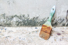 Used paint brushes. With size 63mm.2-1/2 in Royalty Free Stock Photos