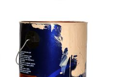 Used paint can Stock Photo