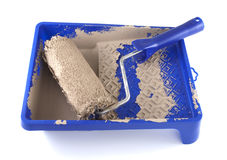 Used paint roller Stock Photography