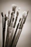 Used paintbrushes Royalty Free Stock Image